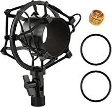 Moukey Universal 51MM Microphone Shock Mount for 48MM-54mm Diameter Condenser Mic (Black)
