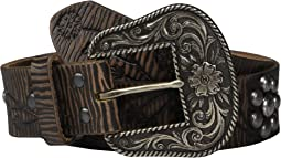 Floral Embossing & Nailheads Belt