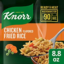 Knorr Ready to Heat Meal Maker for a quick and easy side Chicken Flavored Fried Rice ready in just 9