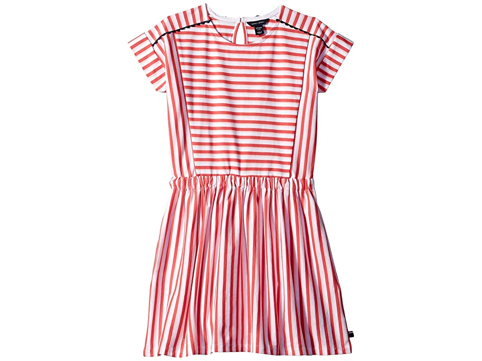 Tommy Hilfiger Kids Stripe Pieced Dress (Big Kids) (Paradise Pink) Girl