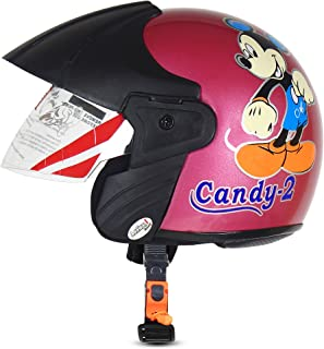 ACTIVE CANDY-2 Open Face Face Helmet for Kids from 3 to 6 Years (PINK,Size-Extra Small)(CARTOON CHARACTERs MAY VERY) (PINK)