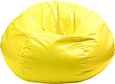 Gold Medal Bean Bags Gold Medal Glossy Vinyl Bean Bag, Small, Sunshine Yellow