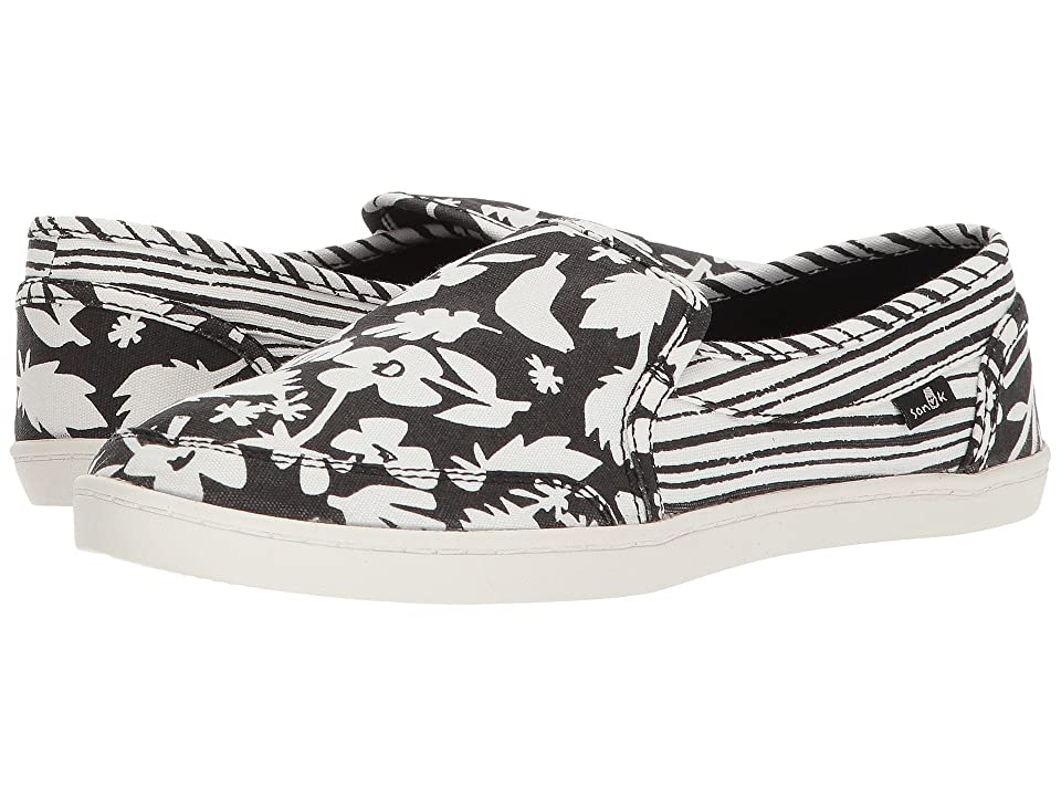 Sanuk Pair O Dice Prints (Black/White) Women