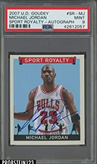 2007-08 UD Goudey Sport Royalty Michael Jordan Bulls HOF AUTO 9 POP 1 ONLY - PSA/DNA Certified - Basketball Autographed Cards
