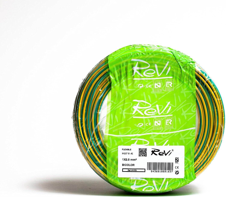 C/âble flexible H07V-K 1/x 2,5/mm/² 100/m. 750.00V