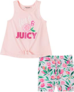 Juicy Couture Girls' 2 Pieces Bike Shorts Set