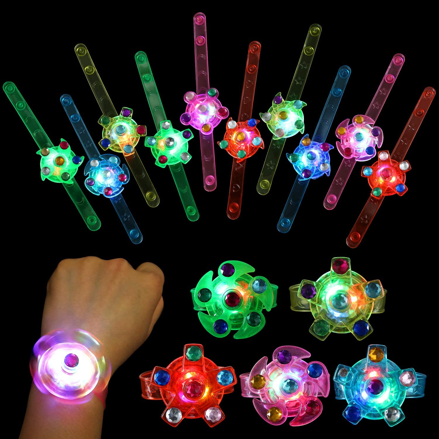 SCIONE Kids Party Complete Free Shipping Favors 24 pack Light U Bag Stuffers Goodie LED 40% OFF Cheap Sale