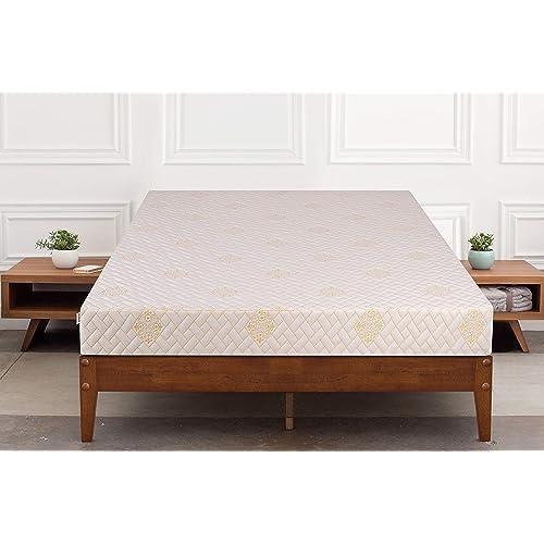 Springtek Dual Comfort Queen Bed High Density Foam Mattress (White, 78x60x5)