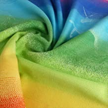 DIDYMOS Woven Wrap Baby Carrier Unicorn Rainbow (Organic Cotton), Size 7
