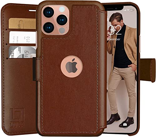 LUPA iPhone 11 Wallet Case, iPhone 11 Case with Card Holder, for Men & Women, Slim Faux Leather flip Cell Phone Credi...