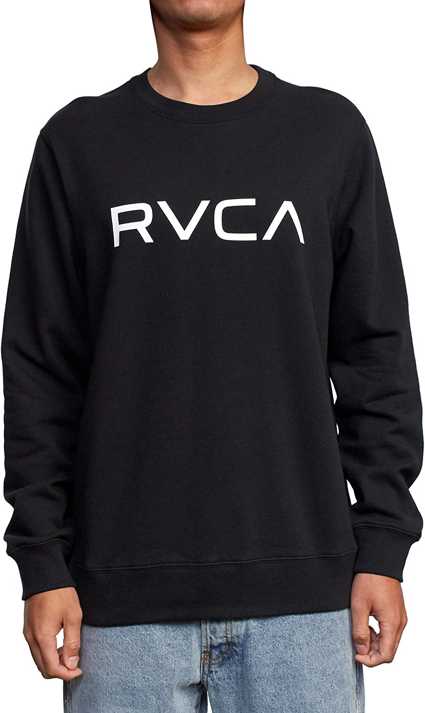 RVCA Men's Graphic Fleece Crew Pullover Sweatshirt : Clothing, Shoes & Jewelry