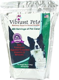 Vibrant Pets Canine Athlete (Advanced)   Produces Beautiful, Shiny, Lustrous Coats   Gives Your Dog Youthful Puppy Energy ...