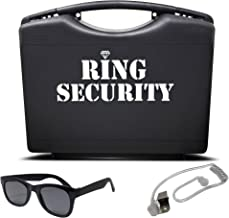 Wedding Ring Security Box with Black Sun Glasses and Spy Ear Piece