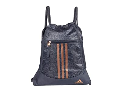 adidas Alliance II Sackpack (Jersey Onix/Rose Gold) Backpack Bags