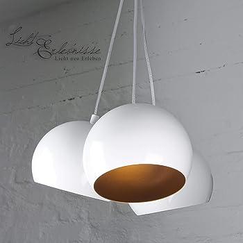 Decken Pendel weiß Wohn Zimmer Beleuchtung Hänge Lampe Leuchte höhenverstellbar