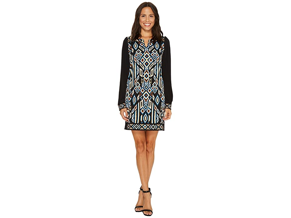 Laundry by Shelli Segal MJ Print with Embroidery (Black) Women