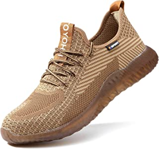 Steel Toe Work Shoes for Women Lightweight Safety Shoes Breathable Industrial Construction Shoes