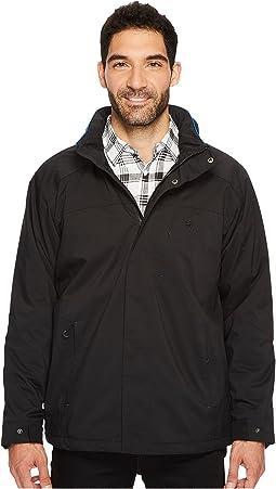 Water Resistant Fleece-Lined Jacket with Hidden Hood