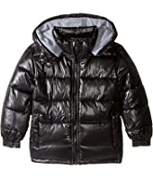 Pumpkin Patch Kids - High Shine Black Puffer Jacket (Infant/Toddler/Little Kids/Big Kids)