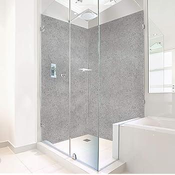 Eck Duschrückwand zwei Platten Alu Bad Dusche Wand Salzberg Terra