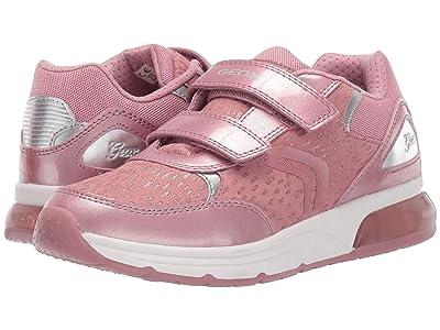 Geox Kids Jr Spaceclub 4 (Big Kid) (Dark Pink) Girls Shoes