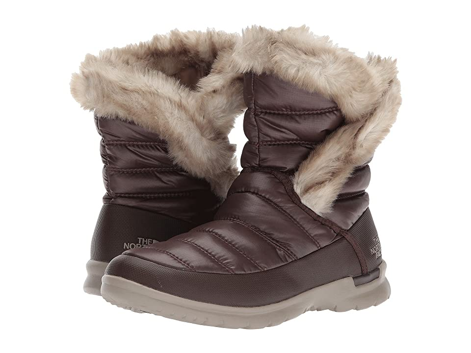 The North Face ThermoBall Microbaffle Bootie II (Shiny Coffee Bean Brown/Dune Beige (Past Season)) Women