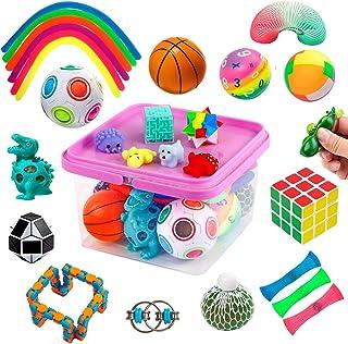 Sensory Fidget Toys Set, Fidget Sensory Toys Bundle for Kids Autism, ADHD, Adults Anxiety Stress Relief Kit with Stress Ba...