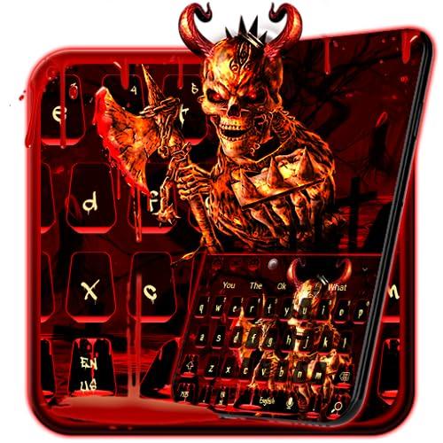 Bloody Red Skull Keyboard Theme