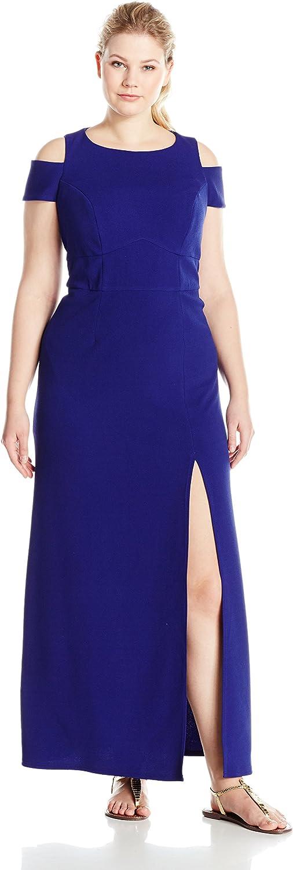 A B S BY ALLEN SCHWARTZ Womens Plus Size Off Shoulder Maxi Dress Dress
