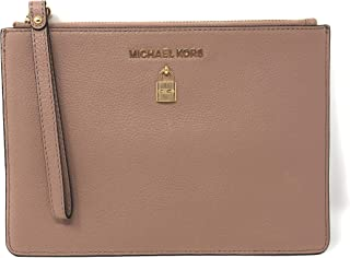 9a25c8aa6300e2 Michael Kors Adele XL Large Zip Leather Clutch Wristlet Purse