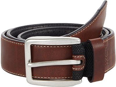 Johnston & Murphy XC4 Sport Casual Belt (Mahogany Leather) Men