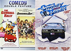 Chase & Race Pursuit Cannonball Run Part 2 Double Feature DVD + The Gumball Rally Stars Stunts & Laughs Smokey & The bandit Pack 1/2/3 Movie Marathon