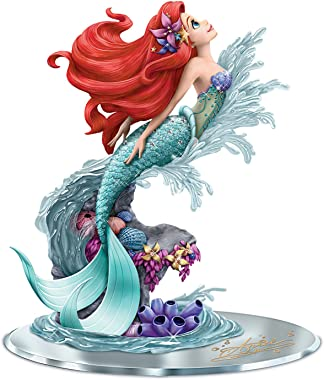 The Hamilton Collection Disney's The Little Mermaid Ariel: Beauty Under The Sea Hand-Painted Figurine with Mirror Base