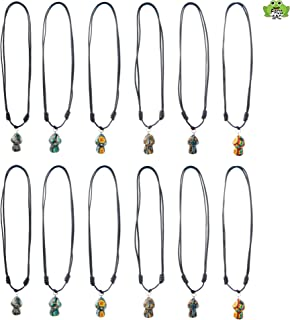 Frogsac Mushroom Pendant Necklaces (12 Pack) Adjustable Cord Necklaces with Mushroom Fimo Pendants - Great Party Favors