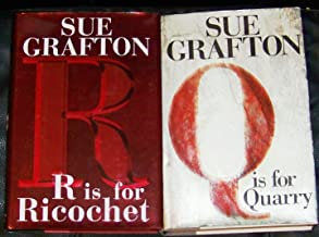 Lot 2 Sue Grafton First Edtion Hardback Books (R Is for Ricochet ~ Q Is for Quarry)
