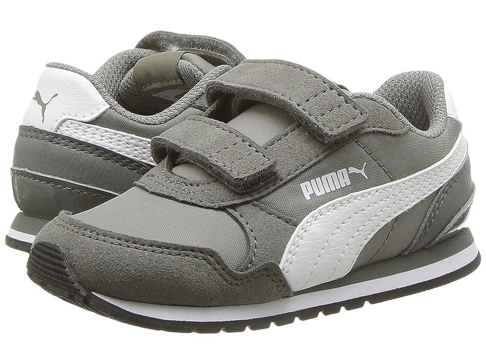 Puma Kids ST Runner v2 NL V (Toddler) (Rock Ridge/Puma White) Boys Shoes