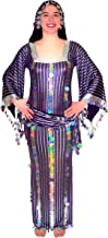 Women Belly Dance Folkloric Baladi Egyptian Galabeya Dancing Dress Costume