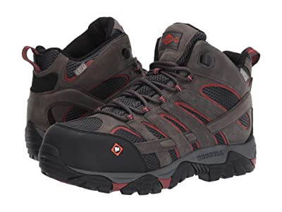 Merrell Work Moab Vertex Mid Waterproof Composite Toe (Pewter) Men