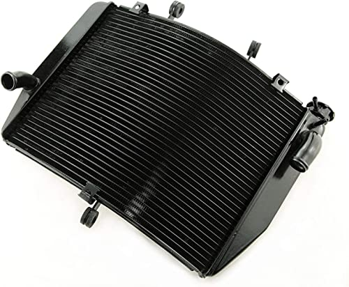 high quality Mallofusa wholesale new arrival Motorcycle Aluminum Radiator Cooling Cooler Compatible for Kawasaki Ninja ZX6R 2007 2008 Black online