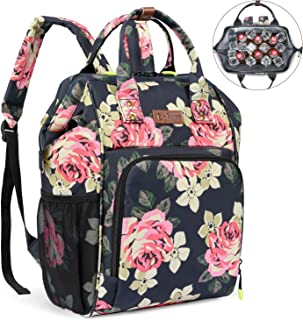 LOKASS Insulated Cooler Bag Backpack Lightweight Lunch Box Backpack Thermal Cooler Bag Keep Beer Cool Leakproof Coolers Backpack for Man Women Lunch Beach Picnics Hiking or Day Trips,Floral