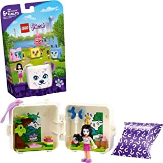 LEGO Friends Emma's Dalmatian Cube 41663 Building Kit; Puppy Toy Creative Gift for Kids Comes with an Emma Mini-Doll Toy, ...