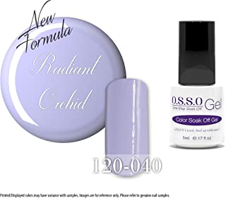 O.S.S.O Gel Polish Color One-Step Soak-off LED UV Cured No Base or Top Coat Need (Radiant Orchid) (5ml)