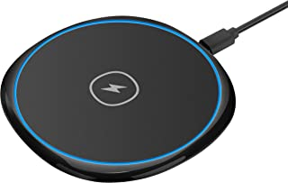 Wireless Charger, Qi-Certified 7.5W Wireless Charging Station for Phone XS MAX/XR/XS/X/8/8 Plus, 10W Fast-Charging for Galaxy S10/S9/S9+/S8/S8+, 5W for All Qi-Enabled Phones (No AC Adapter)