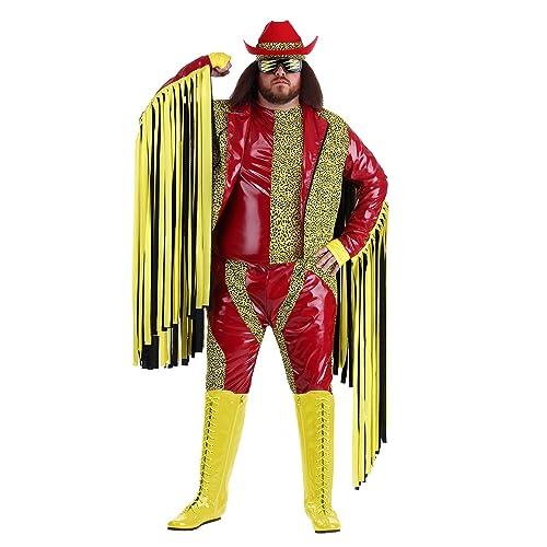 Adult Wrestling WWE Randy Savage Macho Man Madness Sequin Costume Cape
