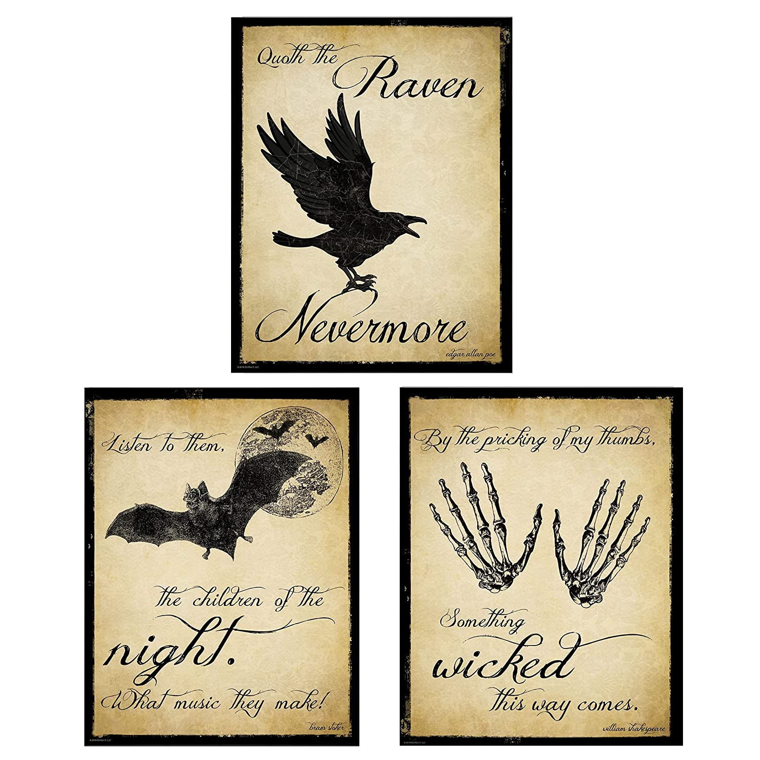The All stores are sold Raven Tampa Mall Dracula and Macbeth Literary Inspirational Set. Quote