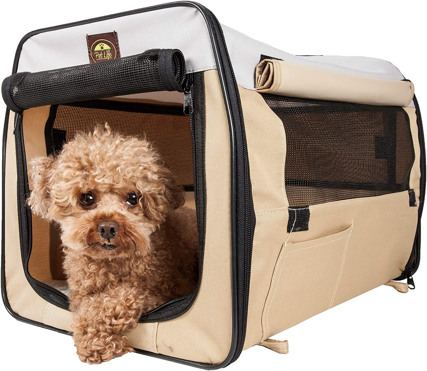 Folding Zippered Lightweight Easy Folding Pet Crate
