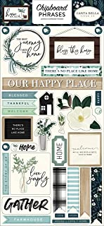 Carta Bella Paper Company Home Again 6x13 Phrases chipboard, green, blue, woodgrain, black, teal