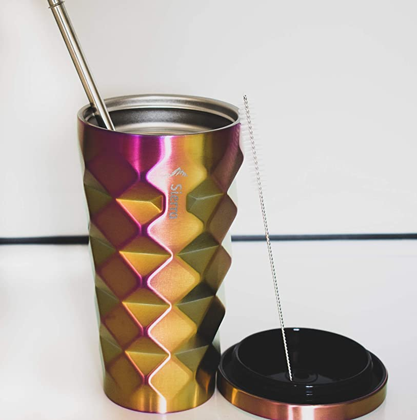 Stainless Steel Tumbler With Straw 16 Oz, Coffee Mug, Cup Car Drinking Tumbler, Travel Tumbler for all seasons