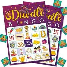 Diwali Bingo Game Festival of Lights Bingo Supplies Dewalee Themed Activity Game Friends Relative Indian New Year Party Su...