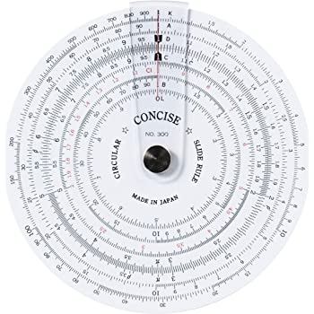 コンサイス 定規 円形計算尺 300 100829